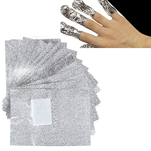 BODHI2000100pcs pellicola in alluminio per unghie per Nail Art soak off Gel Remover Polish Remover