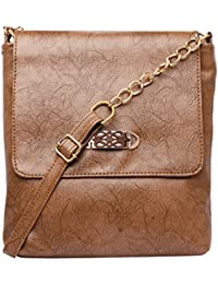 Brown Color Trendy Fashionable PU Sling Bag Shoulder Bag Cross Body Bag For Girls