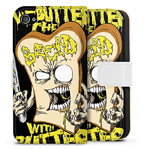 Apple iPhone X Silikon Hülle Case Schutzhülle We Butter The Bread With Butter Fanartikel Merchandise Deathcore Sideflip Tasche weiß