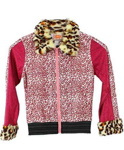Kostüm Rosa Jacke Kind - Karneval-Klamotten Rockstar Mädchen-Kostüm Jacke Popstar Mädchen Kinder-Kostüm Sängerin Musikerin Disco Jacke Tiger rosa Größe 164