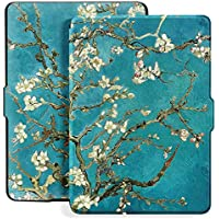 Ayotu Colorful Case for Kindle Paperwhite Auto Wake/Sleep Smart Protective Cover - Fits All Paperwhite Generations Prior to 2018 (Not Fit All New Kindle Paperwhite 10th Gen) K5-09 The Apricot Flower