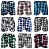 6/8 / 10/12 Pack Boxershorts Hipster American Style Boxer Unterhosen Baumwolle Herren M L XL XXL (L, 10er Pack)
