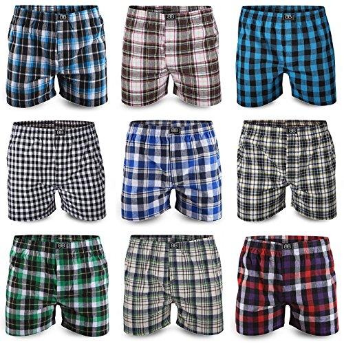 Best Basics Boxershorts Hipster American Style Boxer Unterhosen Baumwolle Herren,3XL,10er Pack (mehrfarbig)