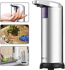 Seifenspender Automatisch,Automatischer Seifenspender, Hohe Qualität Seifenspender Edelstahl Sensor 280ml,Infrarot Seifenspender mit Sensor für Küche und Bad