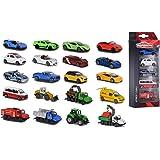 Majorette 212053166 Street Cars - Set de 5 Coches de Juguete de Metal de 7.5 cm con Sistema de Rueda Libre, 4 Modelos Disponi