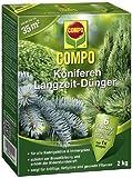 COMPO Koniferen Langzeit-Dünger, hochwertiger Spezial-Langzeitdünger, für Konifere, Tannen, Kirschlorbeeren, Thujen und andere Immergrüne, 2 kg