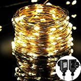 Cadena de Luces LED,MORECOO 33ft/10M Cadena Led de Luces, Impermeable Luces de la secuencia ,Perfecto Regalo para decoración de Hogar, Juego,Boda,Navidad y Otras Fiestas etc (Blanco cálido)