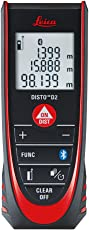 Leica Geosystems D2 4.0 New Laser Distance Measurer with Bluetooth (Red and Black)