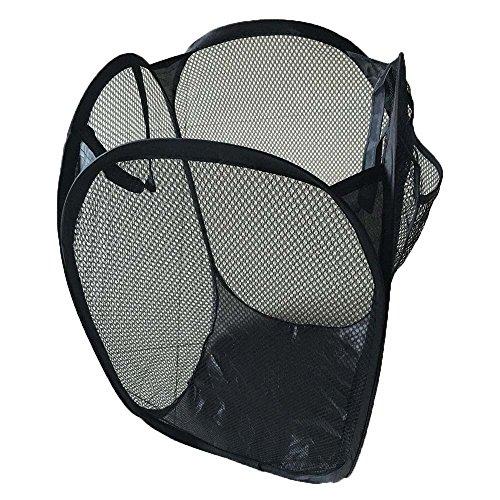 FiedFikt Faltbarer Pop-Up-Wäschekorb Wäschekorb, Netz-Aufbewahrung, faltbar (Konten Notebook)