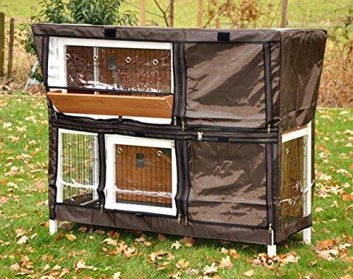 """nanook \""""Bommel\"""" - Schutzhülle für Kaninchenstall Hasenstall Bommel, 123 x 51 x 91 cm - Farbe: braun, schwarz"""