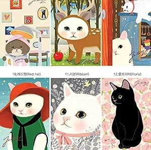 40 motif de chat différent conçoit des cartes postales / cartes de vœux