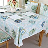 QIANG AF Europäischer einfacher stoff-garten wasserdichter tisch tuch,rechteckiger couchtisch-tuch-A 150*200cm(59x79inch)