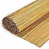 Sichtschutz - Bambusmatte Bambus flach gespalten Natur 150x500cm