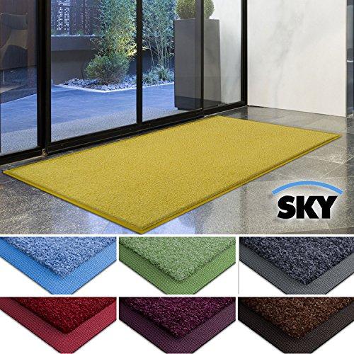 casa-pura-dirt-trapper-barrier-mat-with-matching-rubber-edge-yellow-85-x-150cm-non-slip-absorbent