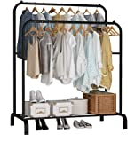 Lukzer 1PC Garment Rack Multipurpose Clothes Rack with Bottom Shelf/Coat Jacket Hanger for Home Bedroom Storage…
