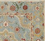 (152x244cm) Bleu persan Leslie Tapis en laine faite à la main traditionnel persan Oriental Tapis en laine et moquette ......