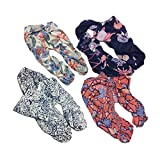 #1: Clapcart Women's Designer Printed Scarf and Stoles Chiffon Set of 4 Multicolored for Girls / Ladies / Women - Clapcart-S020