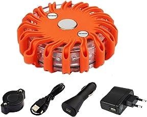 Warnleuchte LED, NOTENS Auto Blinklicht Aufladen Wiederaufladbar Warnleuchte Auto Notfall Orange