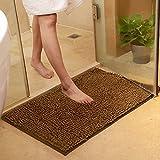 DOTBUY Bad-Teppiche, Chenille Anti-Rutsch-Bequeme Super saugfähiger weicher Duschteppich Dusche Teppich Badematte Bad Teppich (40*60cm, Braun)