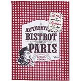 NATIVES 611110 Bistrot de Paris Torchon Coton Multicolore 50 x 70 x 2 cm