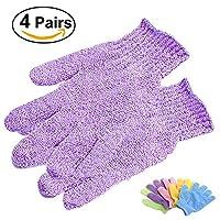 ULTNICE Peeling Bad Handschuhe für Körper Peeling Exfoliator 4 Paare