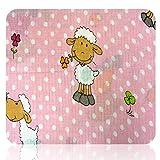 Mullwindeln bedruckt mit verschiedenen Motiven (Tiere: Kuh, Marienkäfer, Schafe, Schafe rosa)
