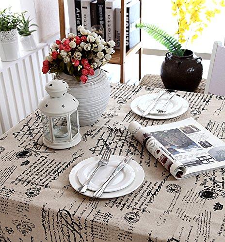 New One Day-Moderno mantel de lino simple mantel de alta calidad ,...