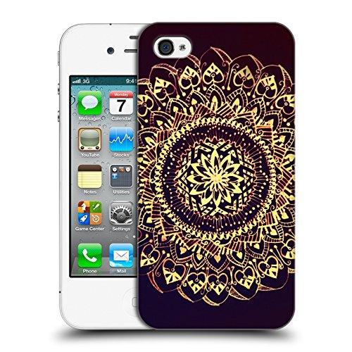Offizielle Magdalena Hristova Muster Weiss Mandala Ruckseite Hülle für Apple iPhone 3G / 3GS Gold