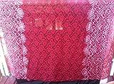 Fancy Rot Rose-Spitze Stoff mit Rasberry Blume Glitzer