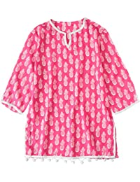 Snapper Rock Girl Kaftan After Sun Summer Dress Top Beach & Pool Cover Up For Kids & Teens