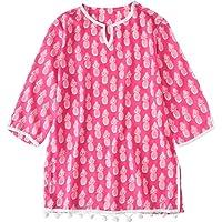 Snapper Rock Pineappels - Ropa de natación con protección solar para niña, color rosa, talla 12 años (152 cm)