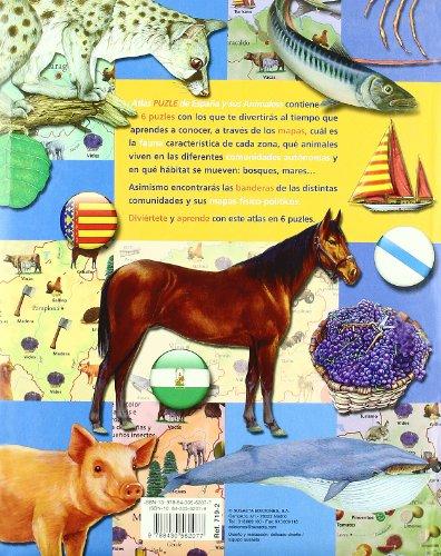 Atlas puzle de España y sus animales