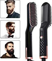 Beard Straightener for Men 3-In-1 Ionic Heated Beard And Hair Straightening Comb Beard Straightening Brush with Anti-Scald F