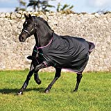 Horseware Amigo Turnout Hero 6 Lite Black with Purple & Mint Weidedecke 115-160 (115)