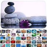 Badteppich, viele schöne Badteppiche zur Auswahl, hochwertige Qualität, sehr weich, schnelltrocknend, waschbar (70 x 120 cm, Energy Stones)