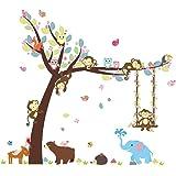 ElecMotive animaux Autocollants Muraux Mural Stickers Chambre Enfants Bébé Garderie Salon