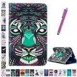 Romtronic Galaxy Tab A6 7.0' Coque, Cute Colorful Flip PU Leather Coque Stand Housse de Protection pour Samsung Galaxy Tab A 7.0 Pouces SM-T280 T285 (2016 Version), touch pen inclus (Design 17)