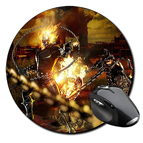 El Motorista Fantasma Ghost Rider C Alfombrilla Redonda Round Mousepad PC