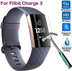 Cooljun Für Fitbit Charge 3 Schutzfolie, 2 Stück HD Ultradünn 9H Härte Schutzfilm TPU Volldeckung Displayschutzfolie für Fitbit Charge 3