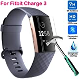 Colorful Für Fitbit Charge 3 Schutzfolie, HD Ultradünn 9H Härte Schutzfilm TPU Volldeckung Displayschutzfolie für Fitbit Charge 3