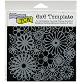 Crafters Workshop Plastic Template 6-inch x 6-inchFlower Frenzy