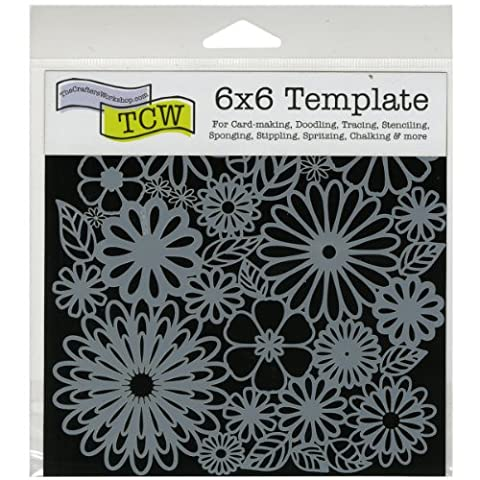Crafters Workshop Plastic Template 6-inch x 6-inchFlower