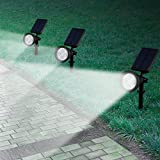 Led Solar Spotlights Outdoor, Mpow 2-in-1 Multi Use Solar Powered Outdoor Wall Security Light / Waterproof Solar Spotlight Landscape Lighting Security Lights 180°angle Adjustable, Auto On/Off for Garden, Outdoor, Lawn, Backyards, Outside Wall etc Bild 7