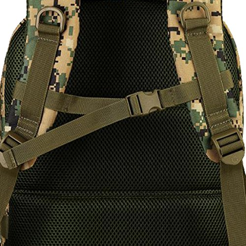 MagiDeal Molle Outdoor Rucksack Erwachsene Taktischer Rucksack 40L Trekkingrucksack Wanderrucksack im Freien Sporttasche, wasserdicht und komfortabel zu tragen, gute Verarbeitung Jungle Digital