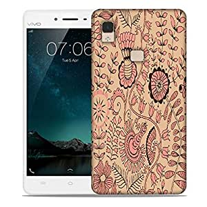 Snoogg seamless texture with flowers and butterflies endless floral pattern Designer Protective Back Case Cover For Vivo V3 Max