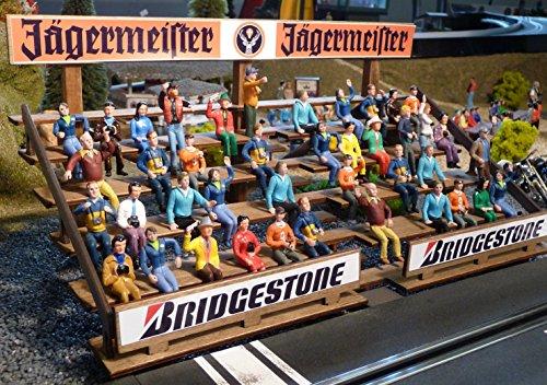 Slotcar Dekoration TRIBÜNE in 1:32 aus Holz für Carrera Digital Figuren Tribüne