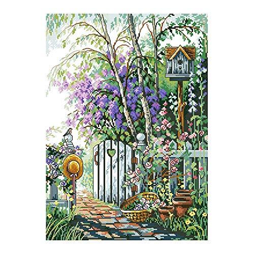 YGHBKL Secret Garden Scenic Floral Diamant Malerei Volle Runde DIY Sticking Drill Cross Stickerei 5d Einfache Dekoration Runde Bohrer 50x70 cm -
