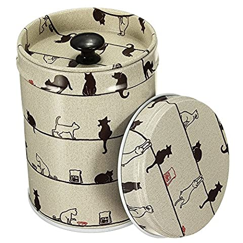 SZTARA Vintage Double Cover Tea Caddy Box Container Food Storage Tin Boxes Case Jewelry Gift Canisters & Jars