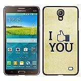 MDMG / Snap On Hartschalen-Case Schutzhülle Hülle - Ich mag Sie FB - Samsung Galaxy Mega 2