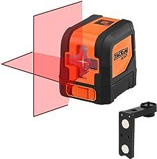 Tacklife SC L01 Klassischer Kreuzlinien- Laser mit Messbereich 10M und Neigungsfunktion, 110 Grad selbstnivellierenden Kreuzlinienlaser IP 54 Staub- und Spritzwasserschutz(inkl. Schutztasche)